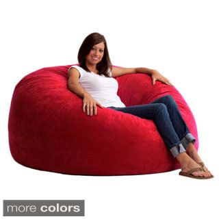 FufSack 5 Foot King Memory Foam/ Microfiber Bean Bag Chair