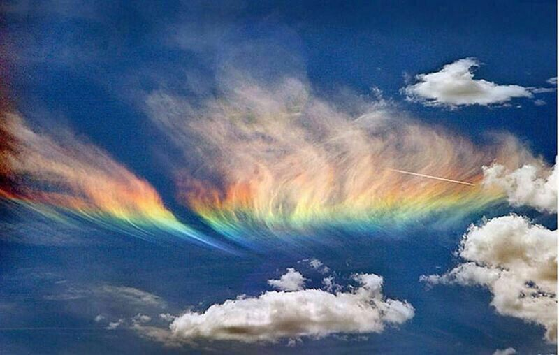 Fire rainbow occurs when the sun is higher than 58 degree above horizon and the light passes cirrus clouds