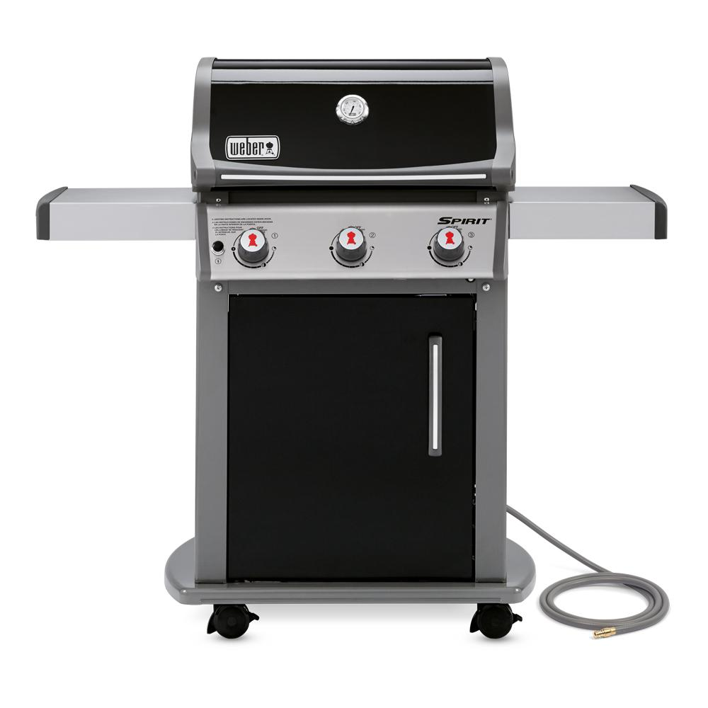 Weber Spirit E 310 3 Burner Natural Gas Grill In Black With Built In Thermometer 47510001 Best Gas Grills Propane Gas Grill Grilling