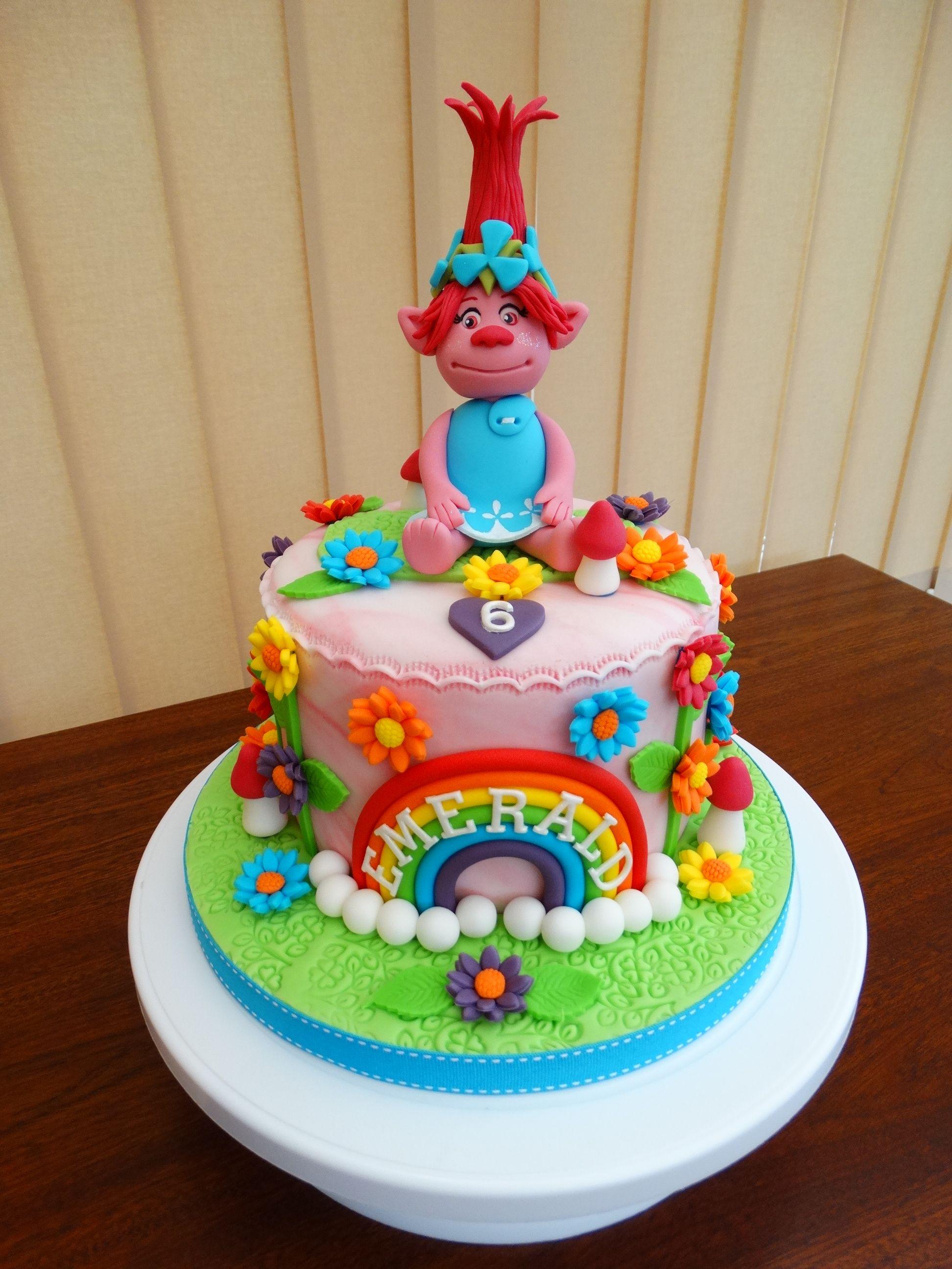 Poppy from trolls cake xmcx birthday cake pinterest