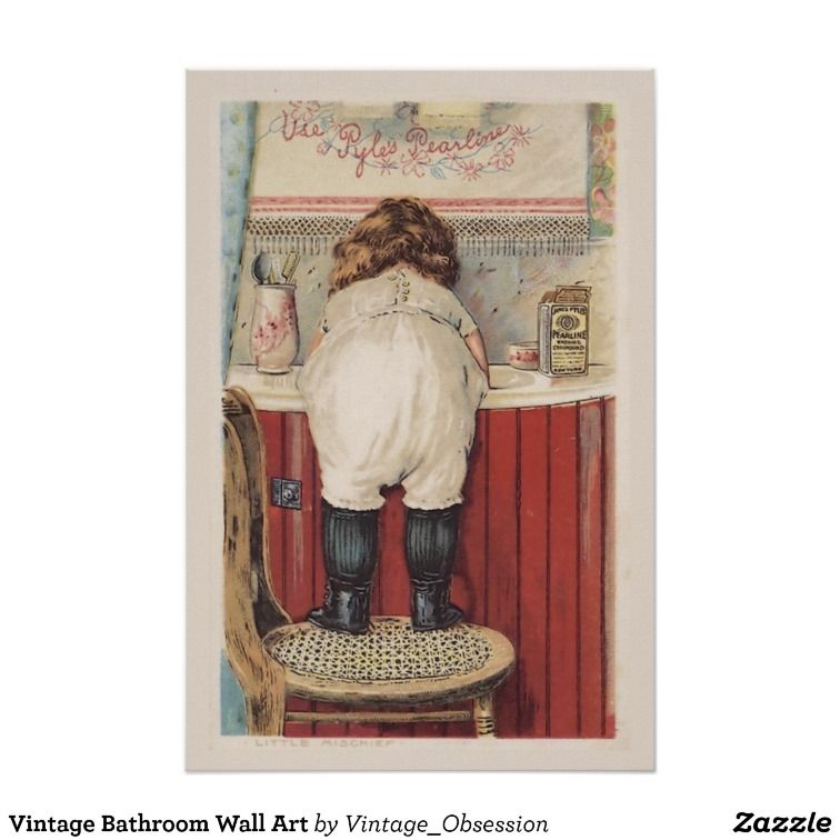Vintage Bathroom Wall Art Zazzle Com Bathroom Wall Art Vintage Bathroom Bathroom Wall