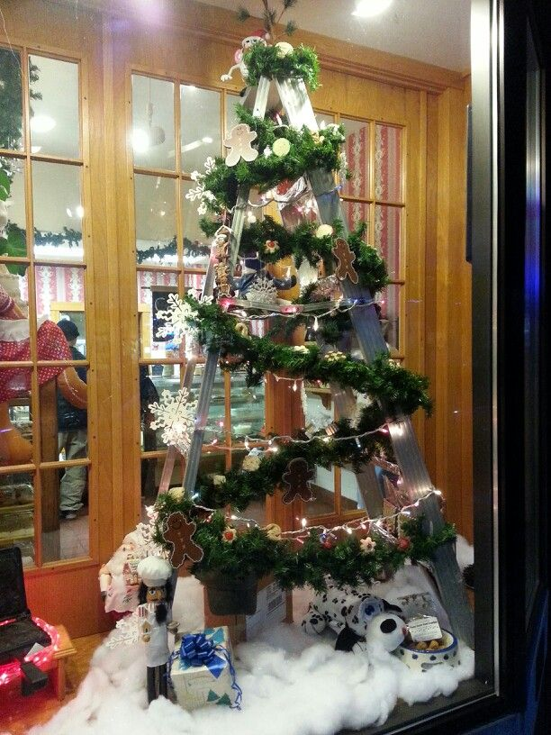2013 Bakery Christmas Tree Made Of A Ladder Bakery