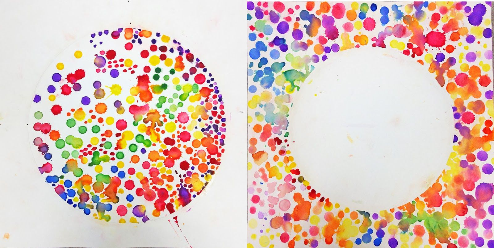 Many parts form a whole.  First grade students are learning about estimation and number illustrations in math.  How many ways can you s... #dotdayartprojects