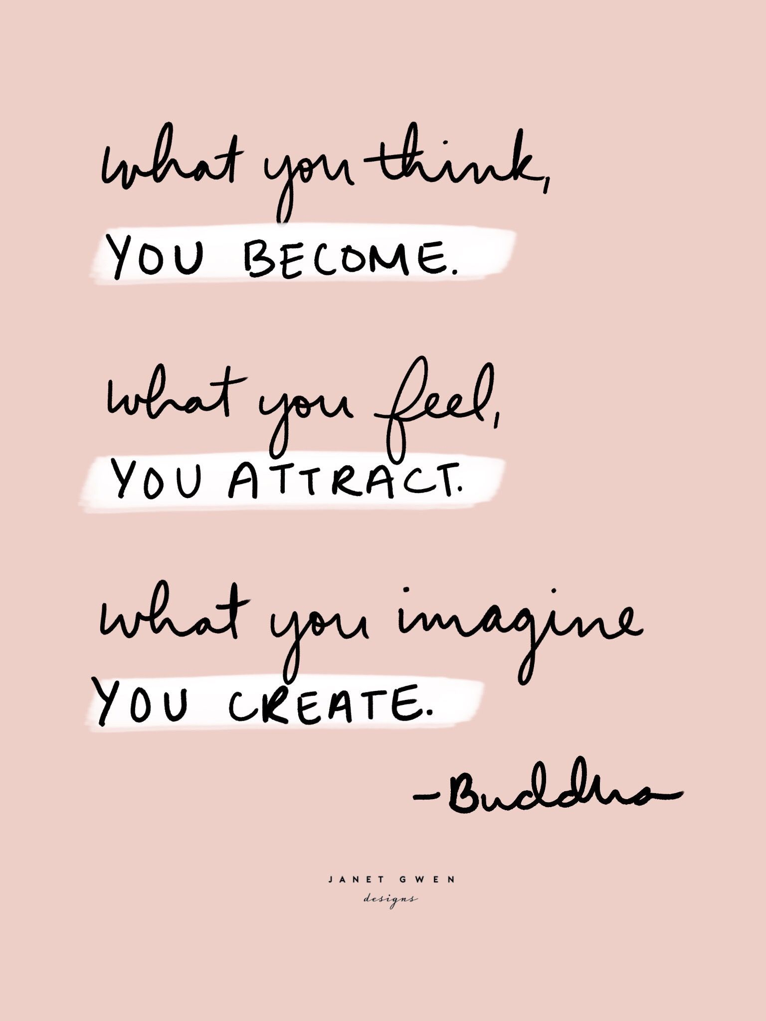 You Become You Attract You Create Buddha Quotes Rose And Marble