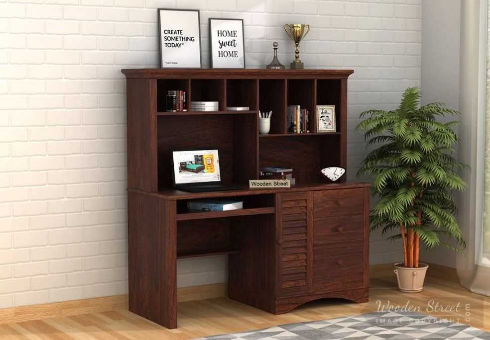 Buy Jerold Study Table Walnut Finish Online In India Study Table Designs Kids Study Table Study Table