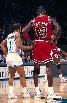 Muggsy Bogues and Michael Jordan!