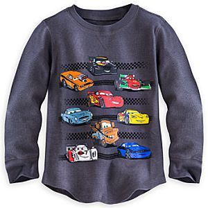 Disney Cars Long Sleeve Thermal Tee for Boys | Disney StoreCars Long Sleeve Thermal Tee for Boys - #95 Lightning McQueen beams from this cool long sleeve thermal <i>Cars</i> Tee. Soft pre-washed feel will make our comfy waffle weave pullover a race time favorite!
