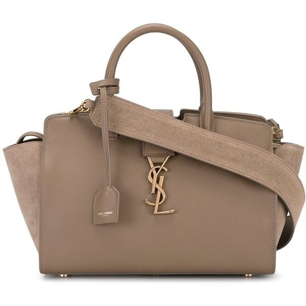 1cc9bff1687f Brown · Saint Laurent small Monogram Downtown Cabas YSL bag ( 1