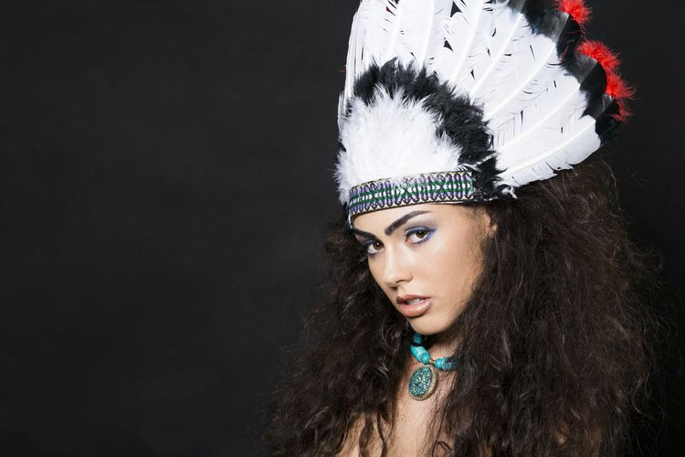 Native American inspired beauty shot by Angie Myers