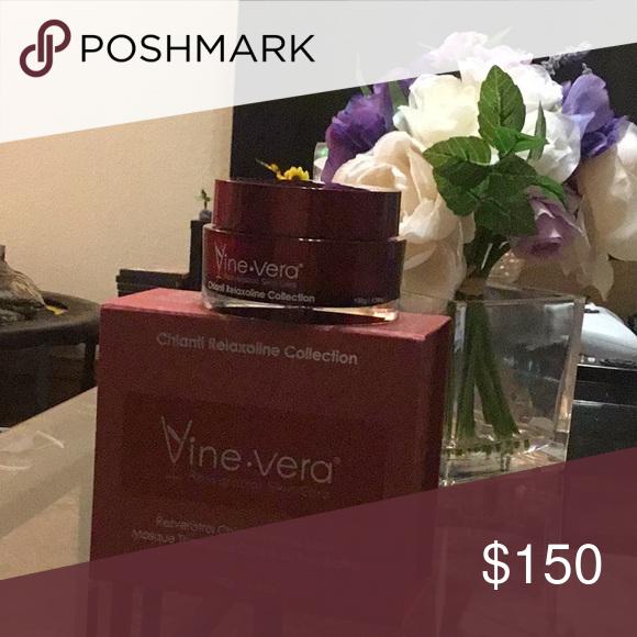 Vine Vera Resveratrol Skin Care Brought Brand New Still In Box Never Been Use Resveratrol Chianti Thermic Mask For Face Vine Vera R Skin Care Resveratrol Skin