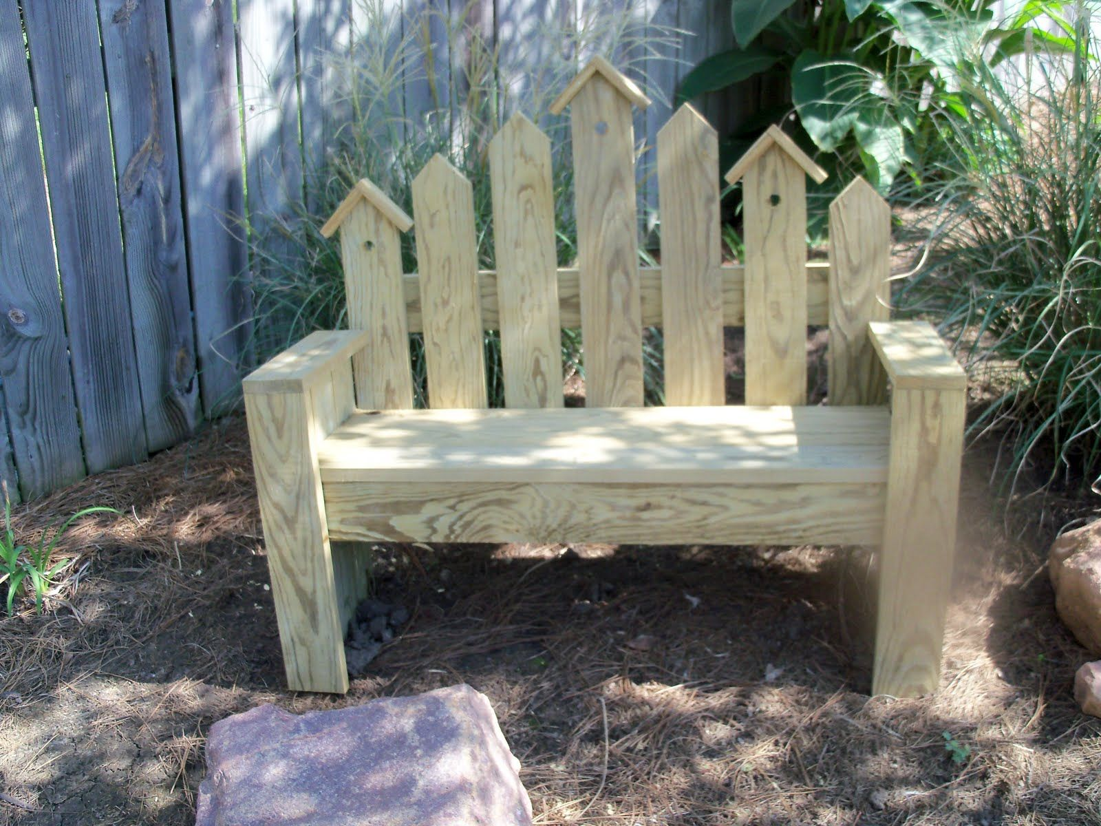 White Picket Fence Bench Picket Bench See Her Bench