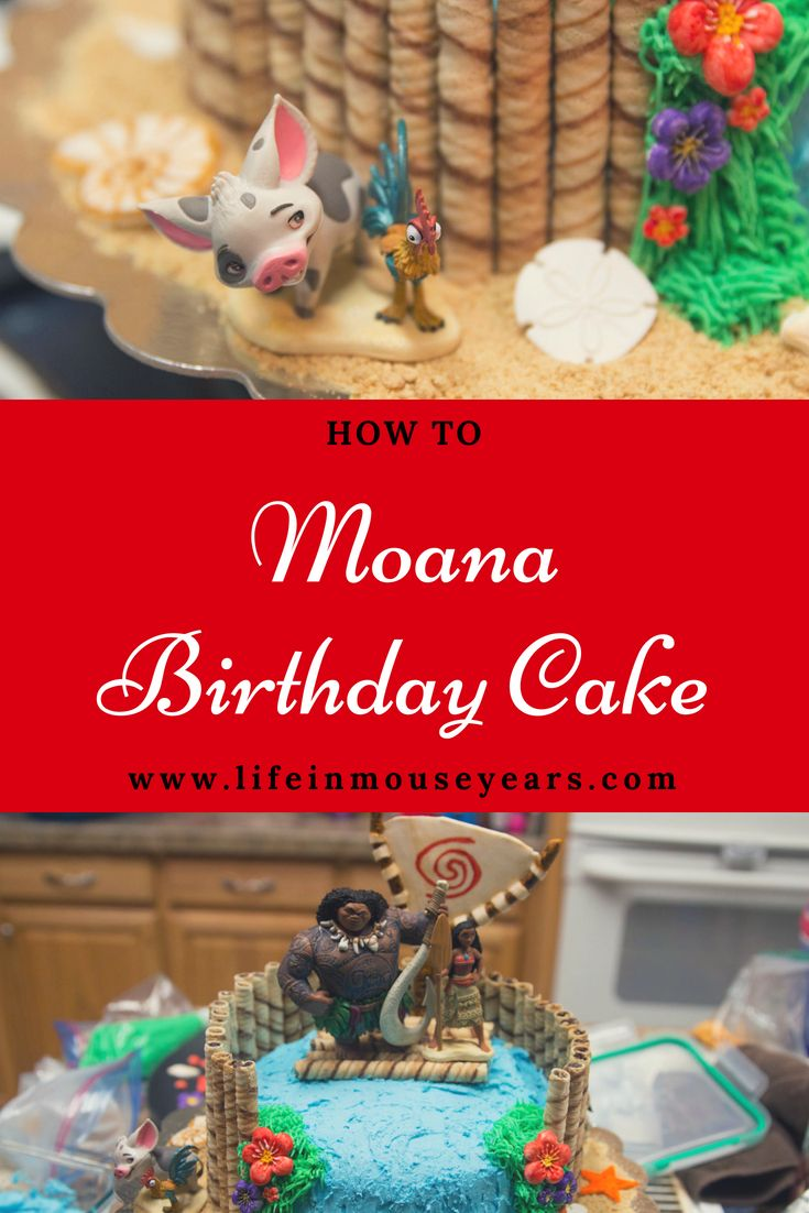 How To Moana Birthday Cake Lifeinmouseyears Disney Yummy Yum Homemade Diy Also Best Of Life In