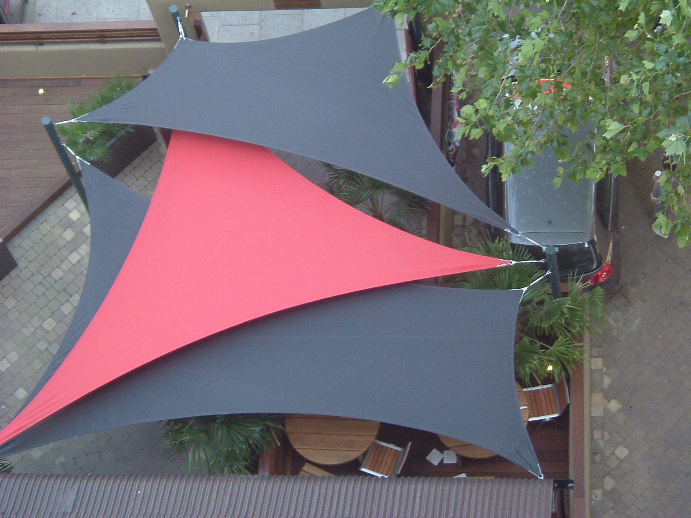 Sail Shades At Nandos In Brixton By Breezefree See More At Www Breezefree Com Shade Sail Patio Shade Backyard Shade