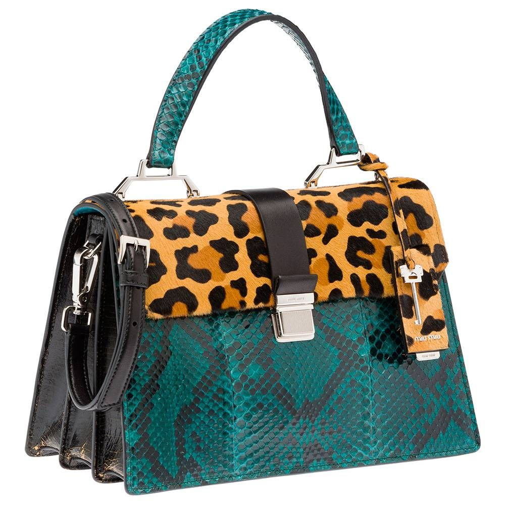Miu Top Handle Bags Honey Dark Brown Pea Blue United