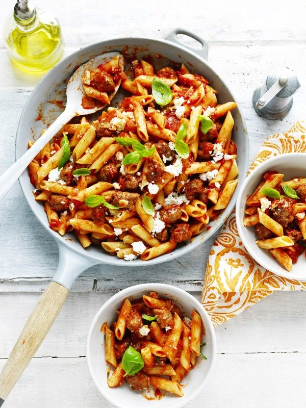 Tomato and italian sausage penne recipe easy family meal idea when you make this tomato italian sausage recipe you are in turn helping to support the foodbank 2016 food forumfinder Gallery