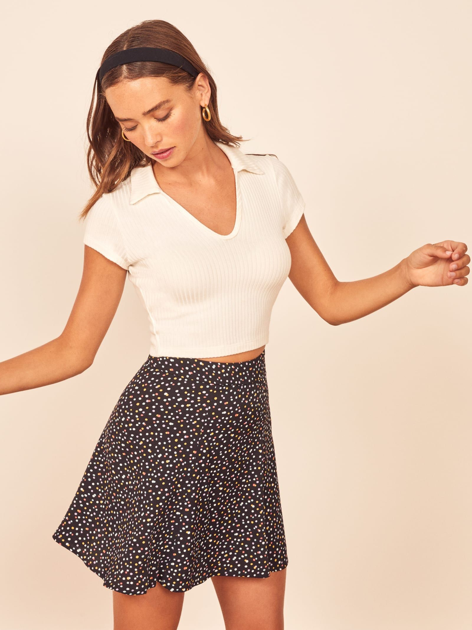 Flounce Skirt Fashion Inspo Outfits Casual Dresses Mini Skirts [ 2133 x 1600 Pixel ]