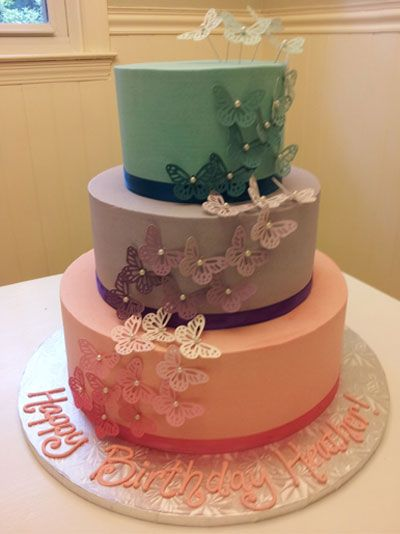 Sweet Ombre Butterfly Cake made by Chelsea Garrison of SC.
