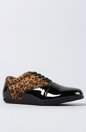 The Patent and Leopard Drop Sneaker by Study