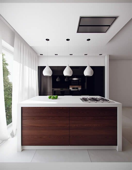 Rudy s blog over italiaanse design keukens e d verlichting boven je keuken eiland dark - Keuken bar boven ...