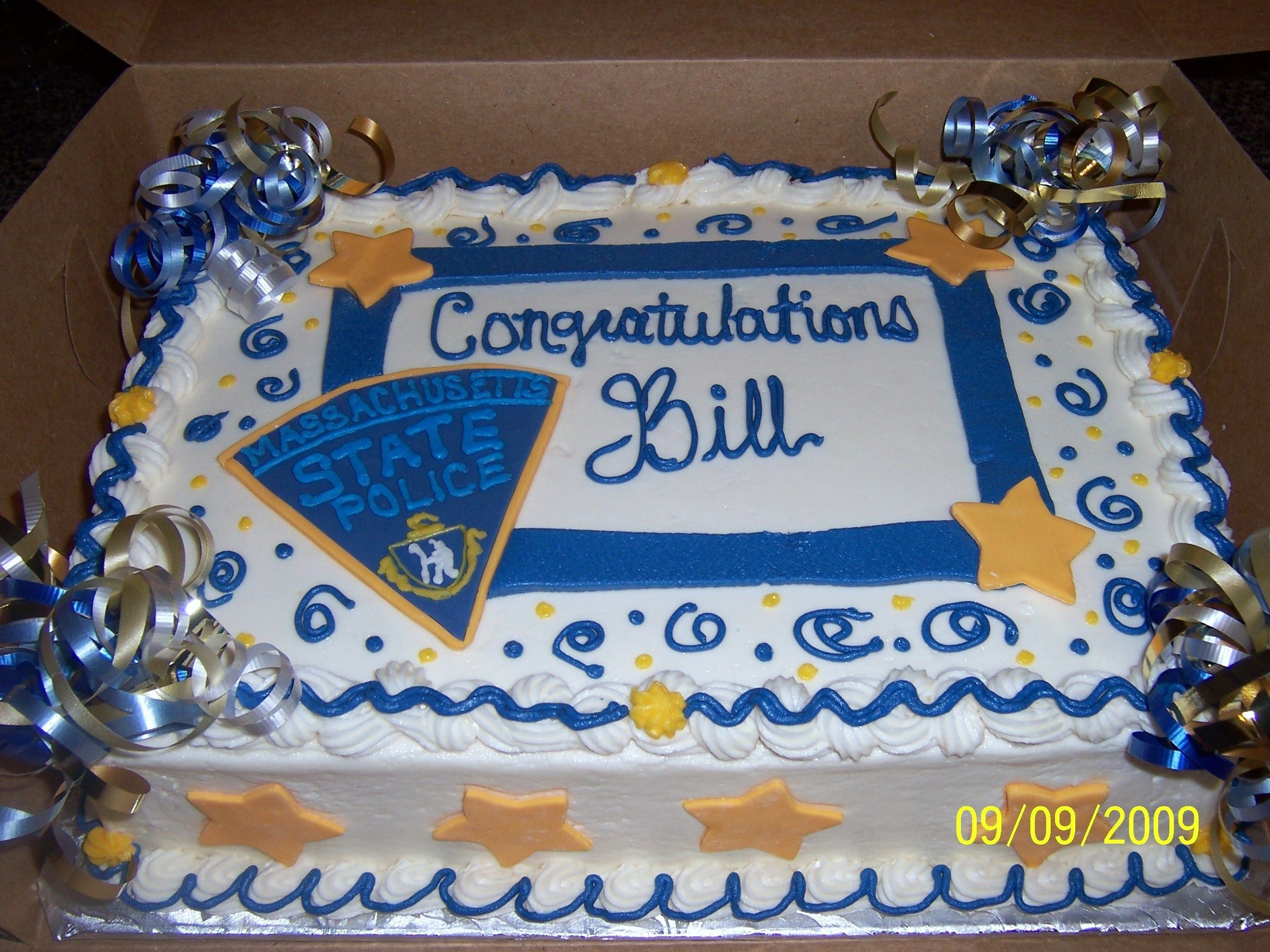 Police Retirement Cake Images : State Police Retirement Cake Sheriff Election Cake Ideas ...