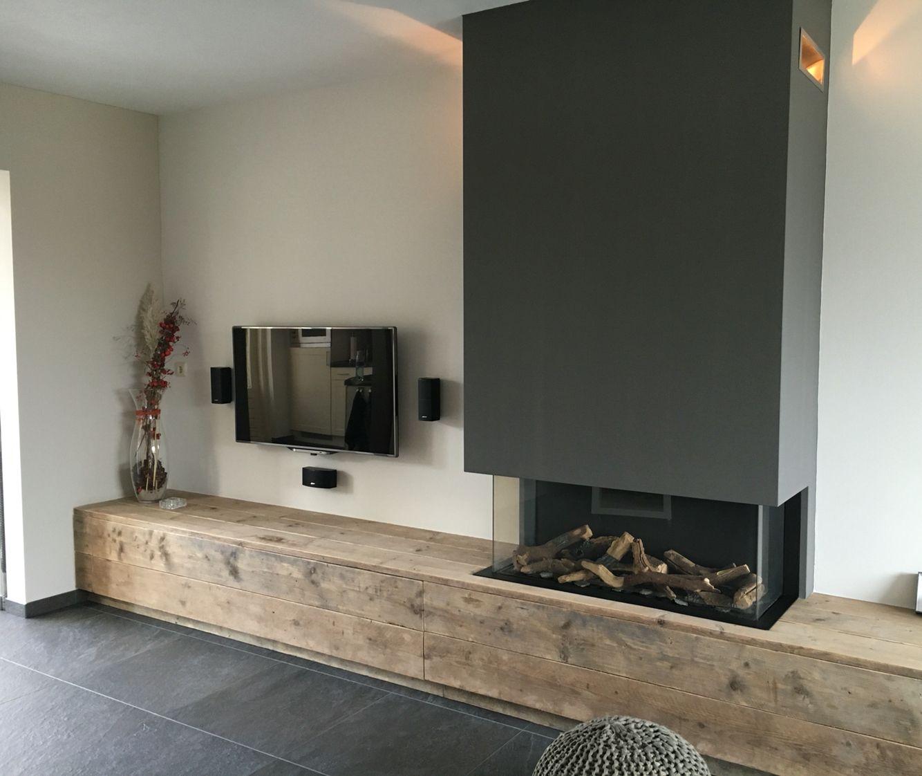 gesloten gashaard met steigerhout woonkamer pinterest wohnzimmer einrichtung und wohnen. Black Bedroom Furniture Sets. Home Design Ideas