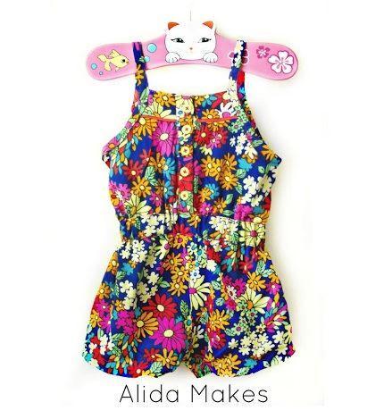 9e31607af108 Tutorial  Mini Boden inspired shorts romper for little girls
