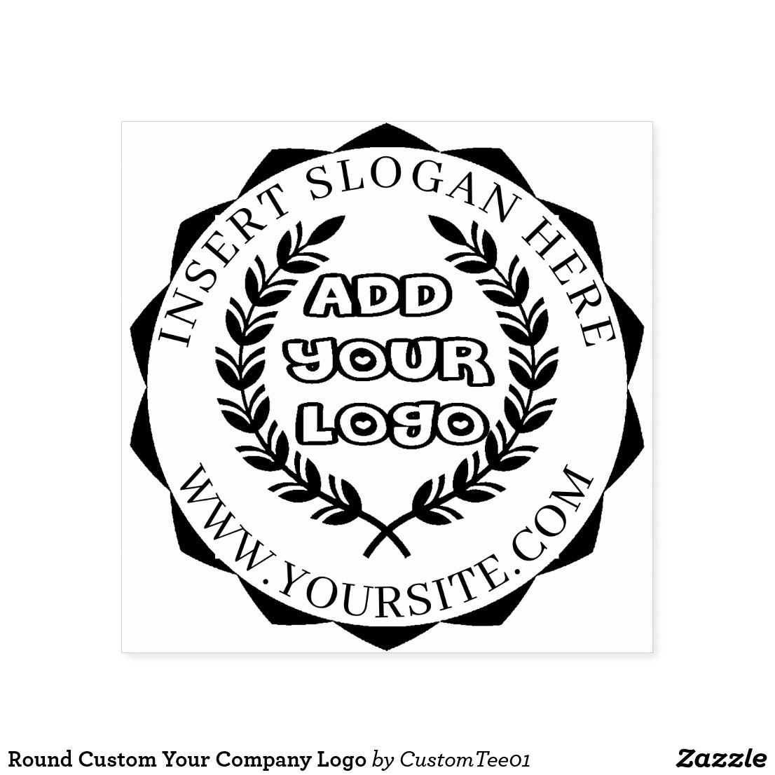 Round Custom Your Company Logo Selfinking Stamp