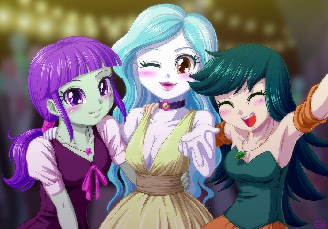 Картинки девочек эквестрии аниме