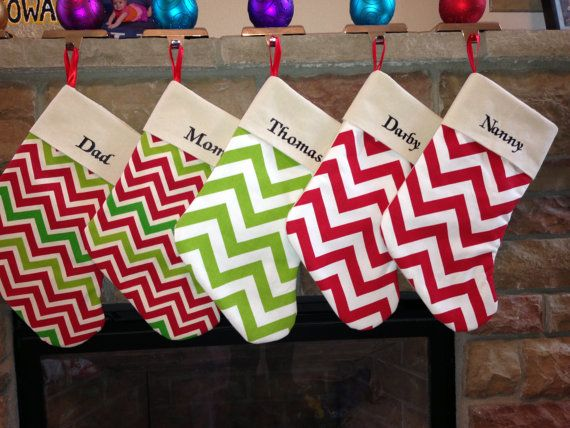 Handmade Personalized Stockings by EJBanks on Etsy Gifts