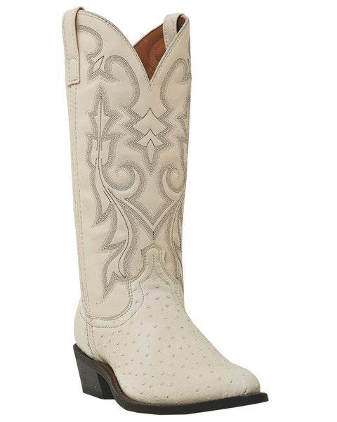 edef43a6079 Laredo Mens White Winter Ostrich Print Dallas 13