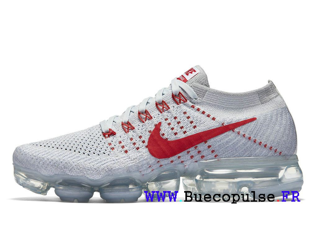 best service d7c11 da117 Nike Air VaporMax Flyknit Classique Chaussures de Basketball Rouge blanc  849557-060-Nike hommes
