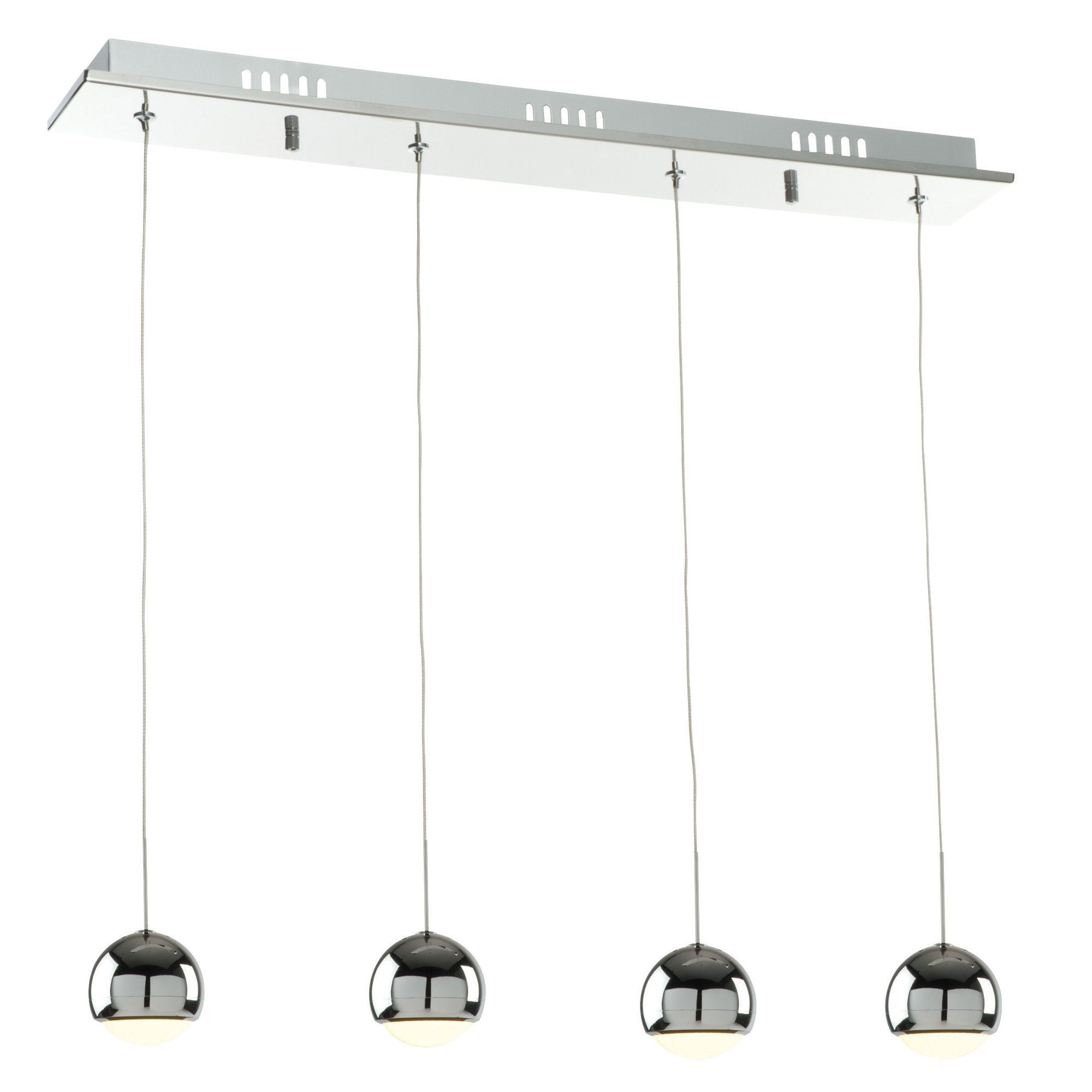 Pluto Chrome Effect Lamp Pendant Ceiling Light Ceiling Chrome - Kitchen pendant lighting bandq