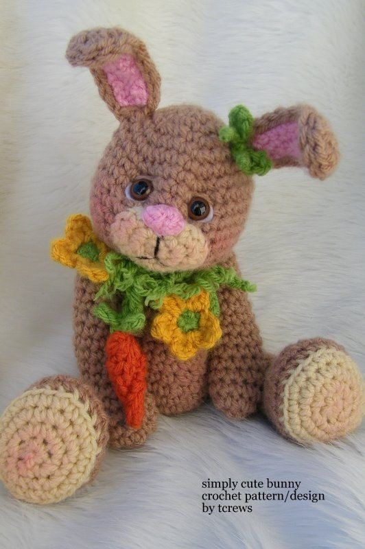 Crochet Pattern Bunny by Teri Crews instant download PDF format ...