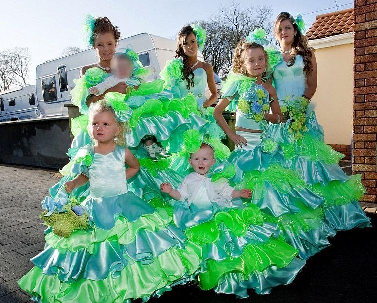 Blue Green Gypsy Wedding Dress - http://casualweddingdresses.net ...