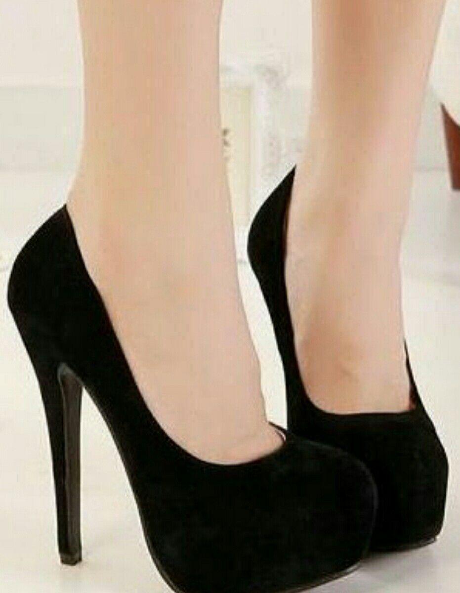 L YC Mujeres Zapatos Planos EN La Primavera con Side Zipper High Heel High Shoes Blanco Negro, Black, 39