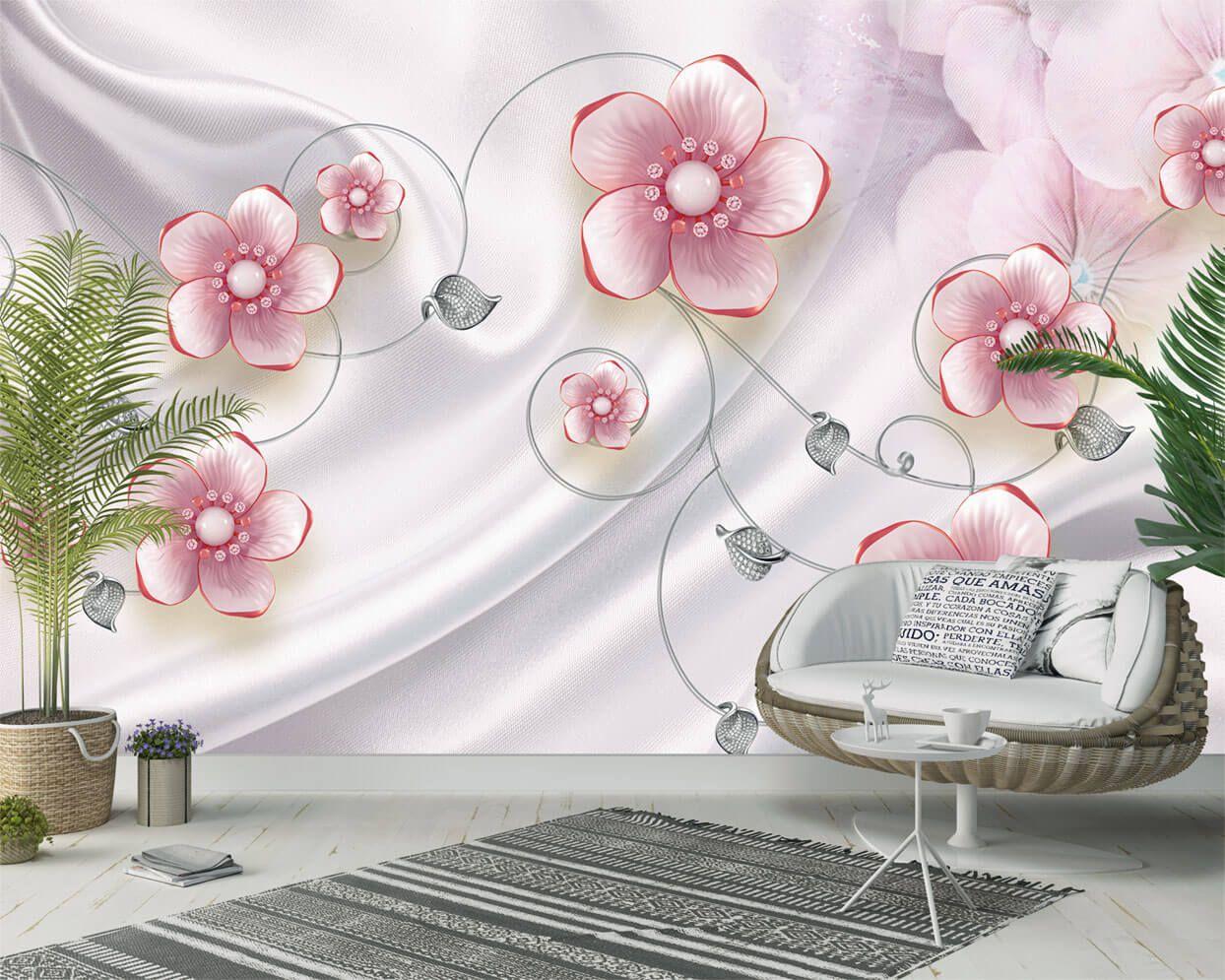 Brilliantovye Cvety Na Nezhnom Shelke Bolshoj Katalog 3d Fotooboev
