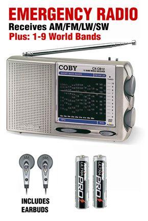 The Coby Cxcb12 World Band Am Fm Lw Sw Radio Is A Simple Multi