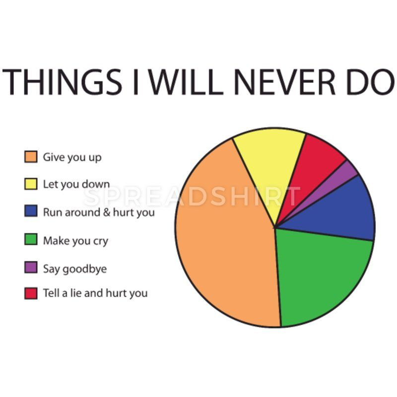 Things I will never do pie chart Men's Premium T-S