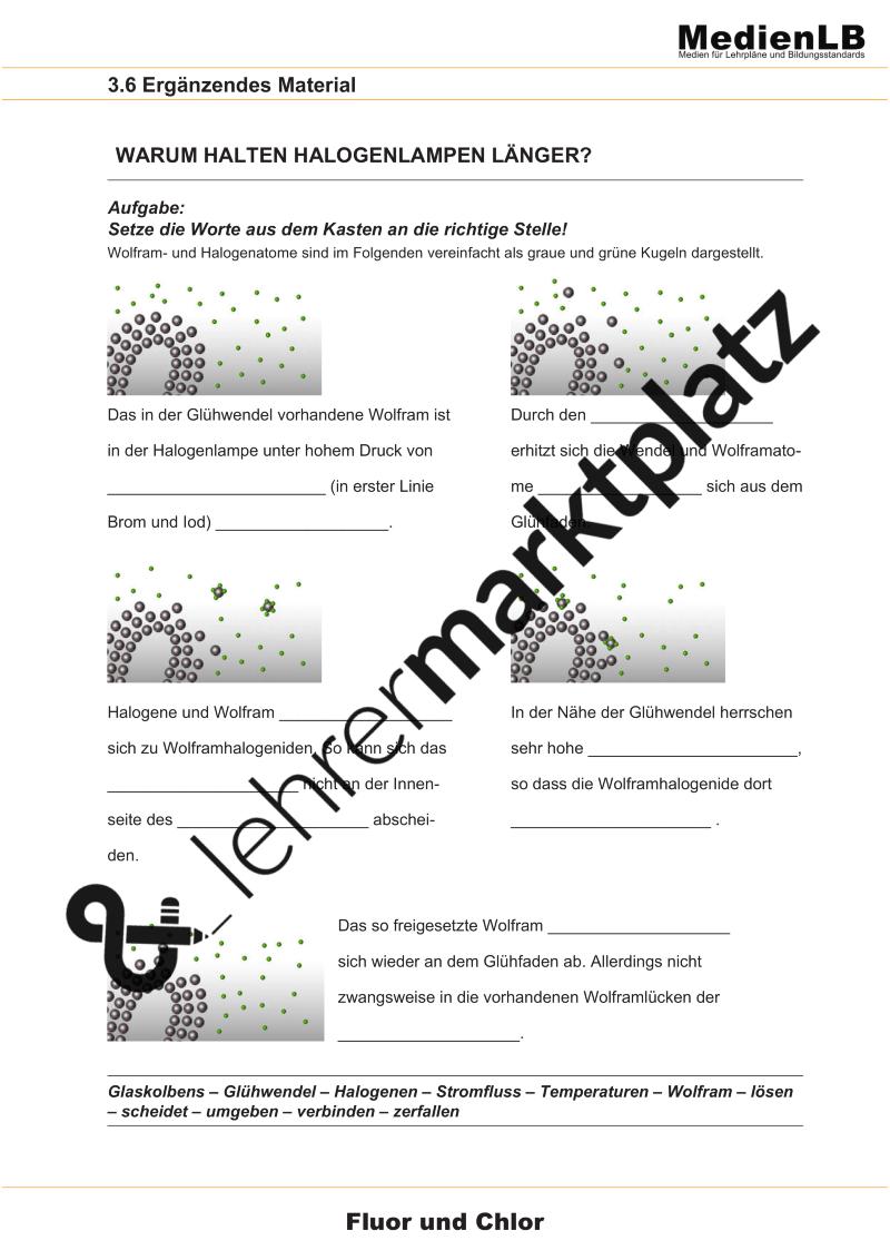 Halogenlampen - Aufbau und Eigenschaften – Chemie