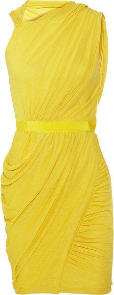 Giambattista Valli Draped Stretch Cottonblend Dress - Lyst