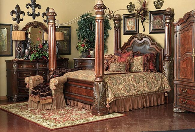 tuscany ways to decorate bedroom | regal canopy bedroom | Regal Canopy Bedroom By A.R.T ...