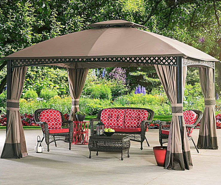 Windsor Dome Gazebo 10 X 12 Replacement Accessories Collection At Big Lots Outdoor Patio Ideas Backyards Gazebo Outdoor Patio Decor