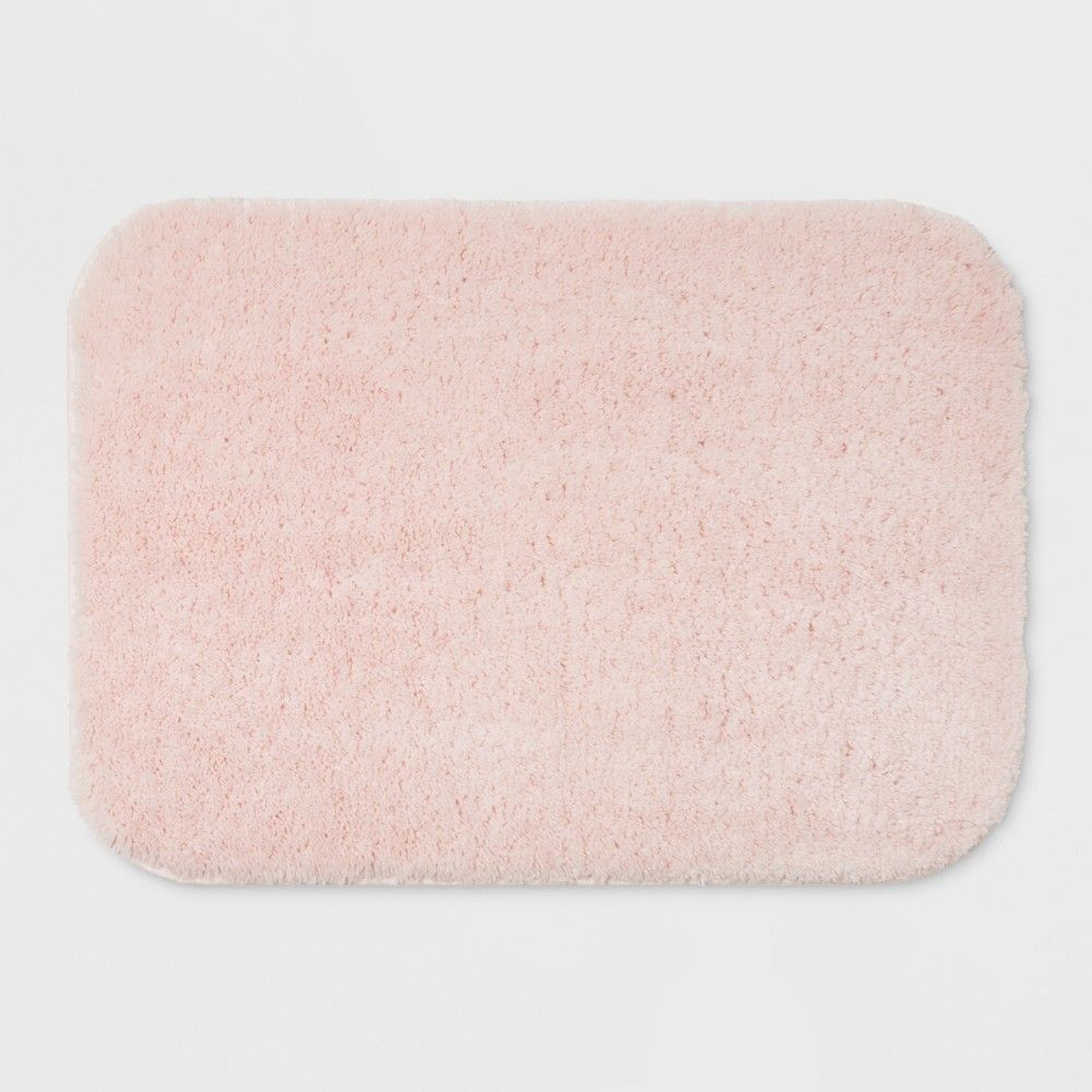 24 X17 Solid Bath Rug Dark Gray Room Essentials Light Pink