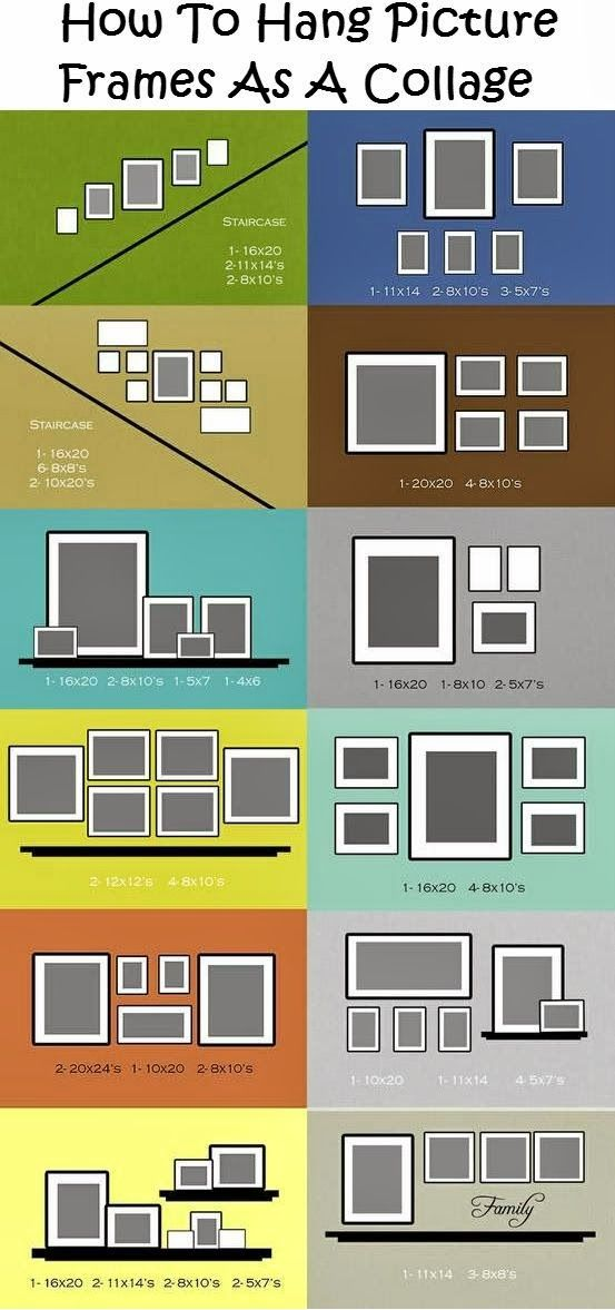 78 Layouts For Hanging Photographs And Artworks On Empty Walls