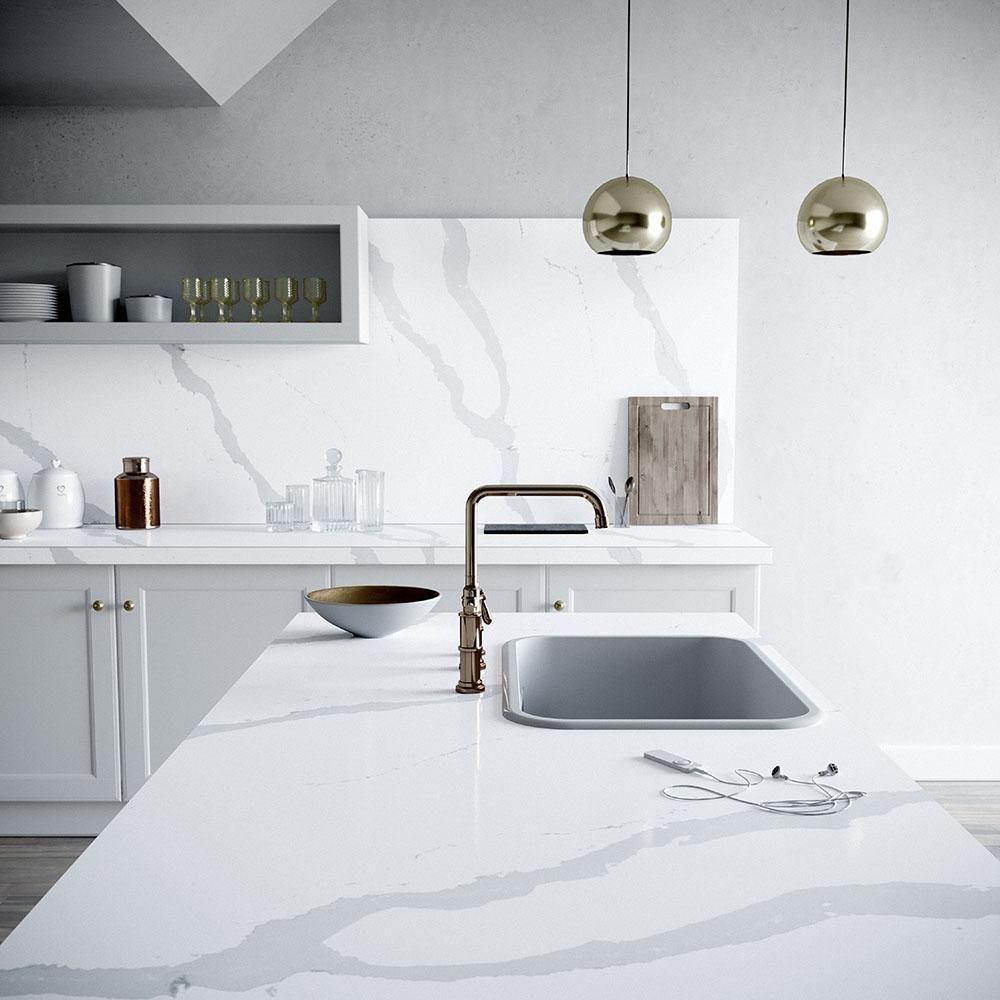 Custom Quartz Countertop Silestone Kitchen Contemporary Kitchen