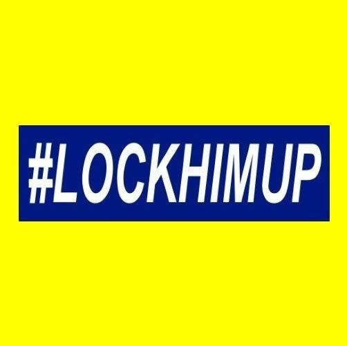 Funny Lockhimup Anti Donald Trump Bumper Sticker Window Decal Lock