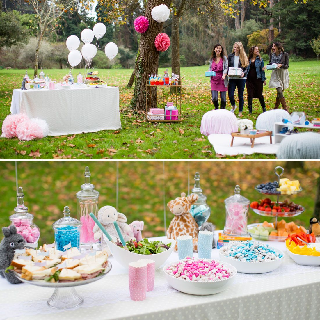 8 Must Haves For A Springy Outdoor Baby Shower Outdoor Baby Shower Decorations Outdoor Baby Shower Park Baby Shower Ideas