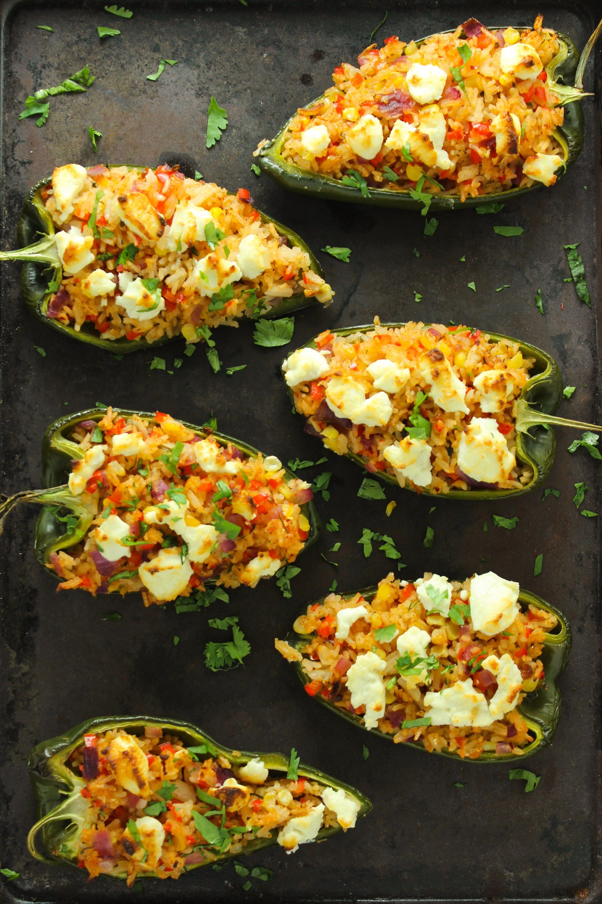 Goat Cheese Stuffed Poblano Peppers From The Fitchen Recipe Stuffed Peppers Stuffed Poblano Peppers Poblano