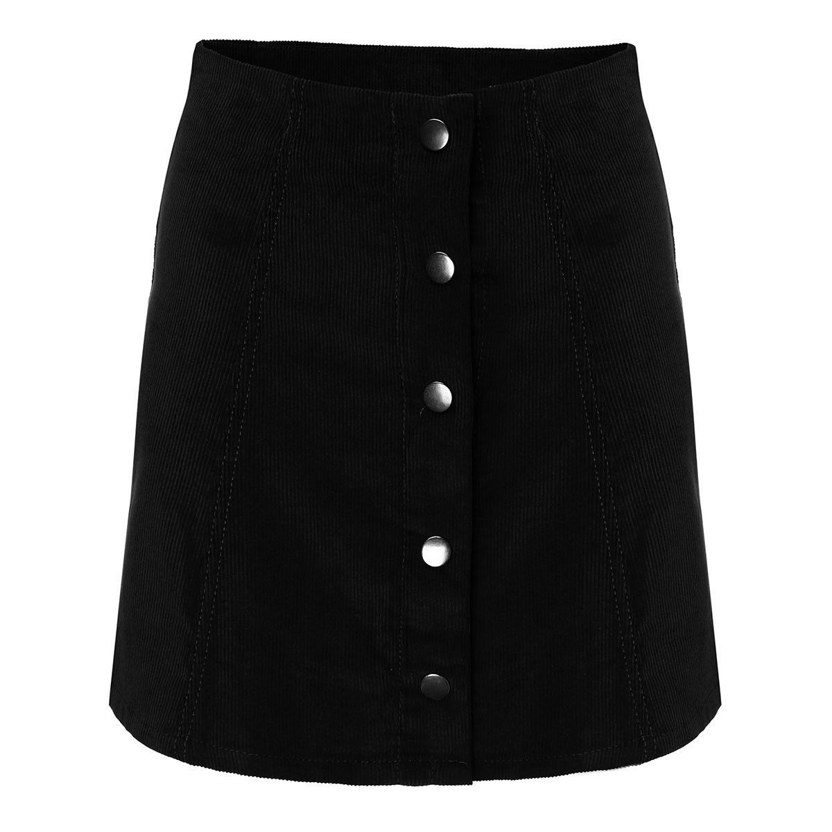 Summer Skirt Fashion Women Skater Vintage Corduroy Front Button A-Line Mini Skirt femme European Style S-XL