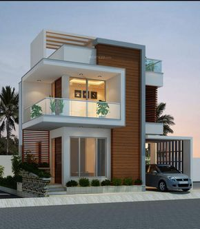 Elegant Modern House Plan With Three Bedrooms And Three Toilet And Baths Pinoy Eplans Facade House House Architecture Styles Duplex House Design